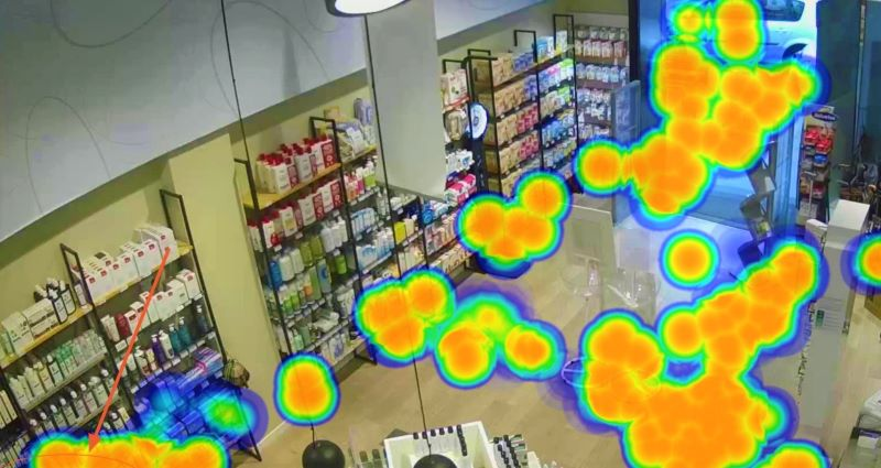 heat map for retail, in-store heat map, dead zone of a store, store desinfecction